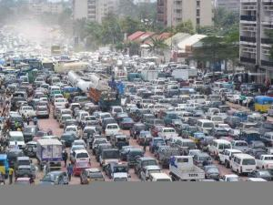 A 2010 traffic jam in Kinshasa, Democratic Republic of the Congo, where population is projected to nearly double by 2050. (Photo: Skyscaper City)