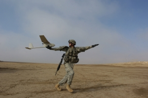 MQ-7 Raven small unmanned aircraft  (U.S. Army photo by Sgt. First Class Michael Guillory)