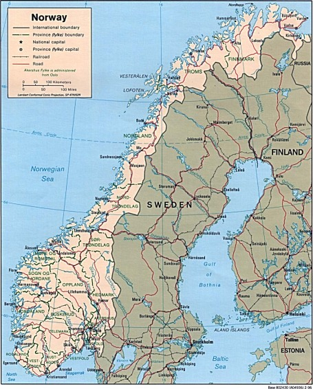 Norway, Sweden  (CIA World Factbook via University of Texas Libraries)