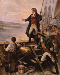"Francis Scott Key notes ""that our flag was still there."" Photo courtesy of Library of Congress"