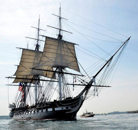 USS Constitution underway in 2012.(Photo by Hunter Stires via Wikipedia)