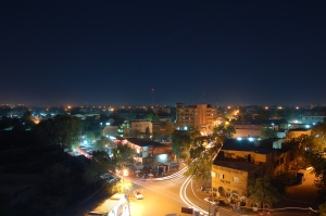 Niamey, Niger's capital, at night.(Photo via wikipedia)