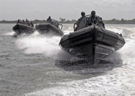 Nigerian special operations sailors and U.S. sailors conduct boarding, search and seizure training with the Joint Maritime Special Operations Training Command in Lagos, Nigeria in 2011. (U.S. Navy photo by Petty Officer 1st Class Darryl Wood)