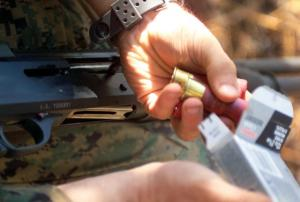 12-gauge shotgun ammo (Marine Corps photo by Lance Cpl. Casey N.  Thuston)