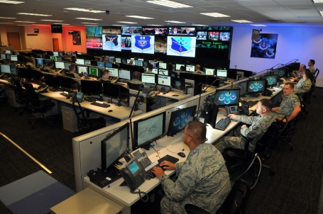 Cyber operations at Joint Base San Antonio-Lackland, Texas (U.S. Air Force photo by William Belcher)