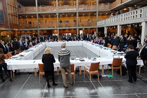 The start of the Arctic Council meeting in Kiruna, Sweden this week. (Arctic Council photo)