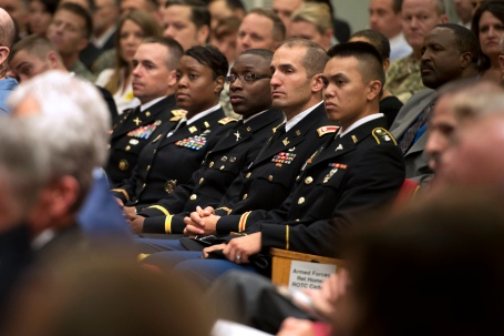In the audience, the faces of today's Army. (Defense Dept. photo by Erin A. Kirk-Cuomo)