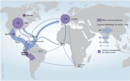 Map from UN Office of Crime and Drugs
