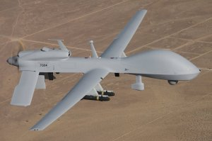 A Gray Eagle UAV in flight 9U.S. Army photo)