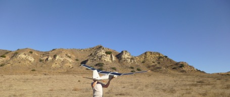 Solar Puma launch in July. (AeroVironment photo)