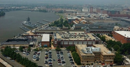 Aerial file photo of Washington Navy Yard (U.S. Navy photo)