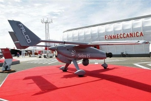A Selex ES Falco at Paris air show. (Photo courtesy of Selex ES)