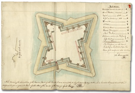 Plan of Fort Detroit in 1812 (Archives of Ontario)