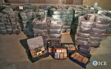 Drugs seized in Tijuana-San Diego tunnel under the border. (Photo ICE)