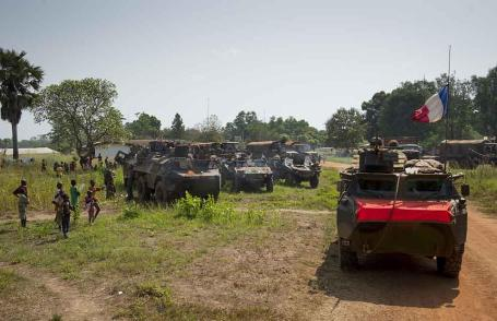 A convoy arrives in Bossangoa. Photo by EMA. Copyright: Ministry of Defence (France)
