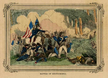 The Battle of Enotachopo Creek January 24, 1814 (Tennessee State Library Photograph Collection)