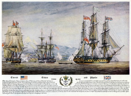Capture of the USS Essex (U.S. Naval Academy via Naval Historical Foundation)