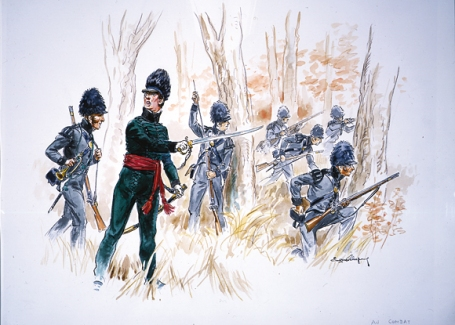 Candian Voltiguers skirmishing (Photo courtesy of Parks Canada)