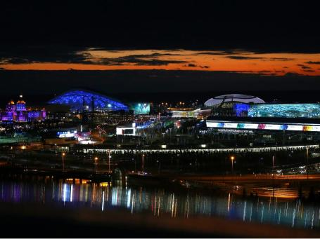 Sochi by Night  (Copyright 2014 XXII Winter Olympic Games)