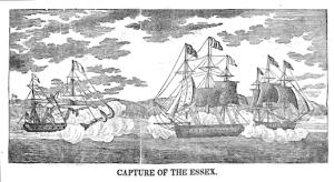 Capture of USS Essex 1838 engraving via Wikipedia