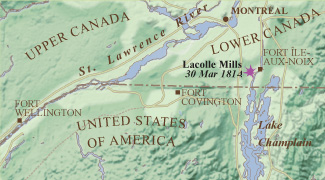 Battle of Lacolle Mills (Royal Canadian Geographic Society/Parks Canada)