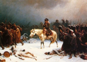 Napoleon's retreat from Moscow (via Wikipedia)