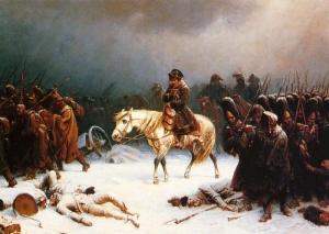 Napoleon's retreat from Moscow (via Wikipedia)