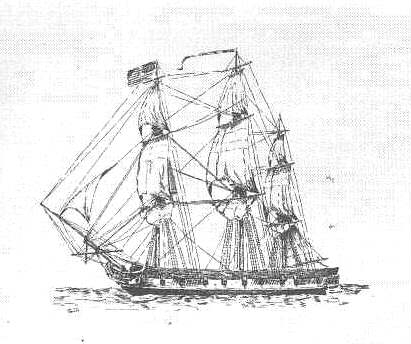The USS Wasp, a sister ship of the USS Frolic, an American sloop-of-war in 1814.