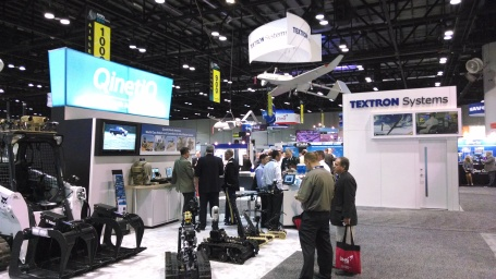On the exhibit floor at AUVSI's Unmanned Systems 2014. (4GWAR photo by John M. Doyle)