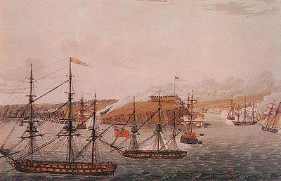 Raid on Fort Oswego, New York 1814.