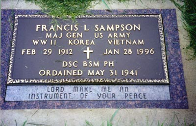 Fr_ Francis L Sampson grave marker 1912 to 1996
