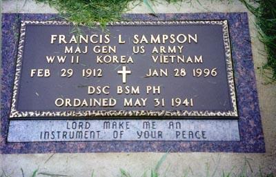 Fr_ Francis L Sampson grave marker 1912 to 1996