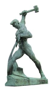Let Us Beat Swords into Plowshares, a sculpture by Evgeniy Vuchetich in the United Nations Art Collection