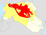 ISIS Territory in Syria and Iraq Red is area controlled by ISIS Yellow is area claimed by ISIS Via iukipedia