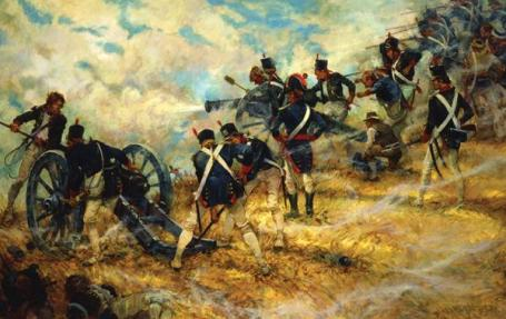 Last Stand at Bladensburg by Charles H. Waterhouse (Collection of the National Museum of the Marine Corps) (