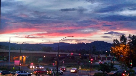 Boulder, Colorado at  sunset (4GWAR Photo by John M. Doyle)