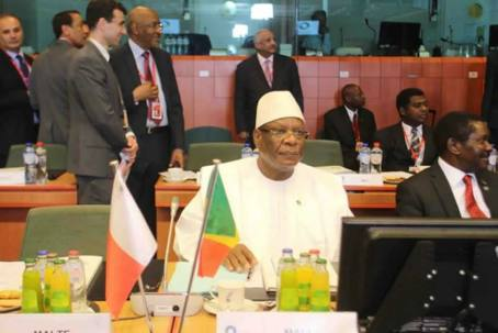 Mali's President Keita at an African-European summit in Dakar in April (Republic of Mali website)