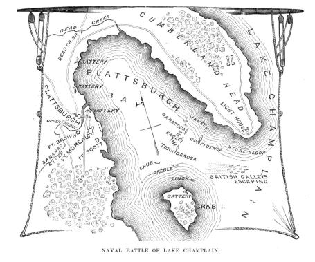 Map of Battle of Lake Champlain