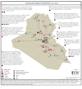 Iraq Situation Report by the Institute for the Study of War. (click to enlarge)