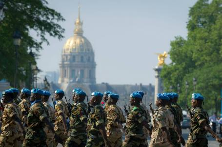 African troops march in Bastille Day parade in Paris July 14. (Photo: SCH Sébastien Lelièvre/SIRPA Terre)