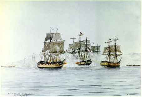 Macdonough's victory on Lake Champlain (U.S .Naval History and Heritage Command)