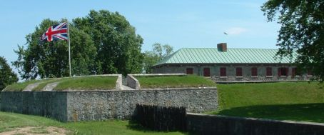 East Bastion and barracks of Fort Erie today. (photo by Ernest Mettendorf via Wikipedia)