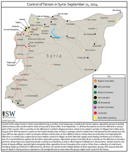Syrian Situation Map by the Institute for the Study of War. (click on image to enlarge)
