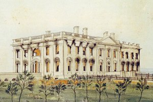 White House after the 1814 fire by George Munger (White House Historical Association)