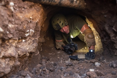U.S. Border Patrol would rather send robots than agents to investigate drug smuggling tunnels, like this one in Nogales, Arizona, between the U.S. and Mexico. (Customs and Border Protection photo by Josh Denmark)