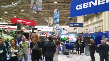 One of the exhibit halls on the first day of AUSA 2014. (4GWAR photo by John M. Doyle)