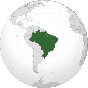 Brazil Map via Wikipedia