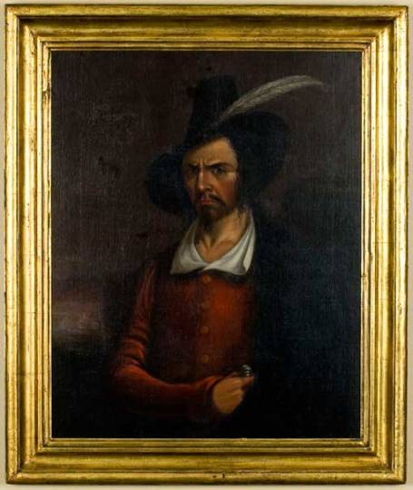 Anonymous portrait claimed to be of Jean Lafitte in the early 19th century. (Courtesy of the Rosenberg Library, Galveston, Texas)