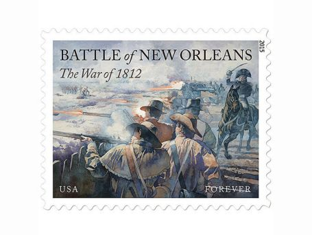Battle of New Orleans 2015 commemorative stamp (U.S. Postal Service)