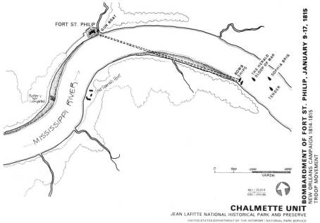 British attack on Fort St. Philip. (National Park Service)